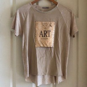 Zara Art short sleeve top